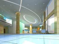 Lobby space 163 3D Model