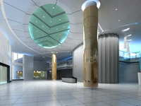 Lobby space 167 3D Model