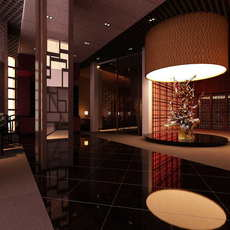 Lobby space 177 3D Model