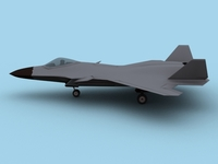 Free Chinese Air Force J20 Fighter 3D Model