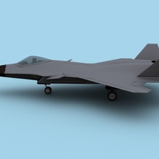 Chinese Air Force J20 Fighter 3D Model