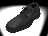men`s black shoe 3D Model
