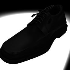 men`s black shoe 3D Model