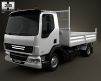 DAF LF Dropside Tipper 2011 3D Model