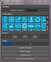 Free mz_ctrlCreator for Maya 1.0.0 (maya script)