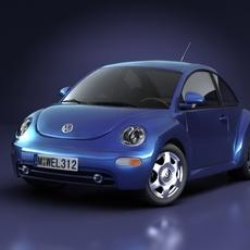 Volkswagen New Beetle 3D Model