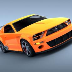 Ford Mustang GTR 3D Model