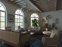 Free Living room 0120 3D Model