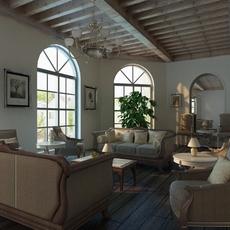 Living room 0120 3D Model