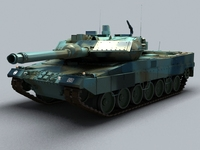Leopard 2 Main Battle Tank 3D Model