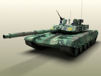 Chinese Type 99 Main battle tank 3D Model