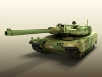 Korea XK2 Main battle tank 3D Model