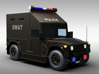 SWAT Police Vehicle 3D Model