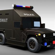SWAT Police Vehicle 3D Model