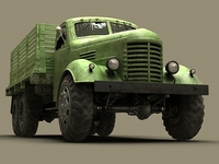 Old Military Truck 3D Model