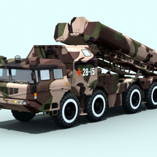 Chinese CJ-10 Land Attack Cruise Missile 3D Model