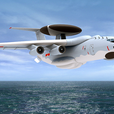Chinese new AWACS aircraft 3D Model