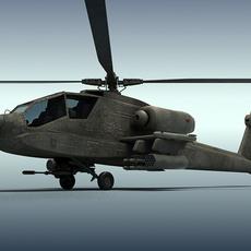 Apache AH-64 3D Model