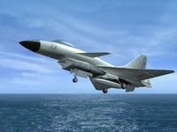 Chinese Air Force J-10 Fighter 3D Model