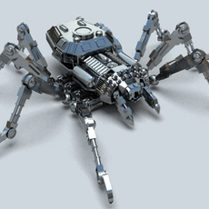 Robo Spider 3D Model