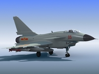 High Detail Chinese Air Force J-10 Fighter 3D Model