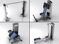 Fitness Gym Equipment Collection 3D Model