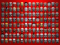 Chinese opera masks 3D Model