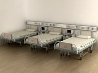 Hospital bed 3D Model
