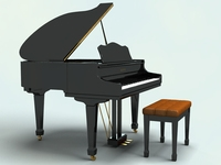 Piano 3D Model