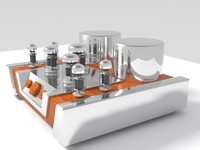 Vacuum Tube Amplifier 02 3D Model