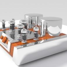 Vacuum Tube Amplifier 02 3D Model