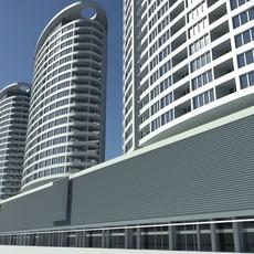 Three Towers Building Bratislava Slovakia 3D Model