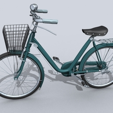 Bicycle with Basket 3D Model