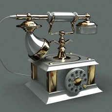 Old fashioned telephone 3D Model
