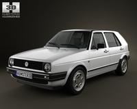 Volkswagen Golf Mk2 5-door 1983 3D Model