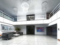 Lobby space 195 3D Model