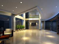 Lobby space 201 3D Model