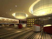 Lobby space 209 3D Model