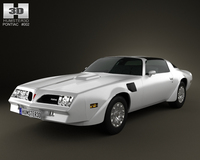 Pontiac Firebird TransAm 1977 3D Model