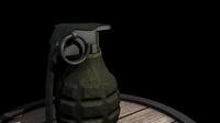 Free WWII Fragmentation Grenade 3D Model
