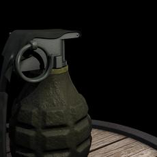 WWII Fragmentation Grenade 3D Model