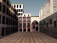 Free Gothic Square 3D Model