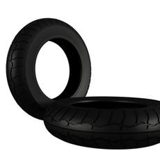 Moto Sport Tire 3D Model