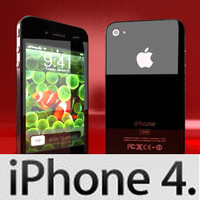 3D Model Apple iPhone 4 High Detail Realistic 3D Model
