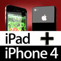 3D Model Apple iPhone 4 & iPad High Detail Realistic 3D Model