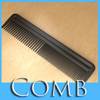 3D Model Black Comb High Detail Realistic 3D Model