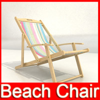 Beach Chair High Detail Realistic 3D Model