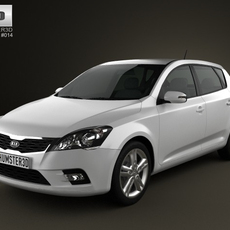 Kia Ceed Hatchback 5-door 2011 3D Model