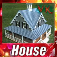 3D Model House Vray Scanline 3D Model