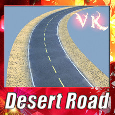 Realistic Desert Road High Resolution 3D Model